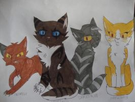 Hey Look Some Warrior Cats by Potato-Kitten