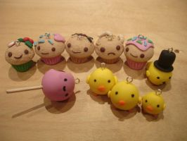 New Polymer Clay Charms :) by PiinkKittyy