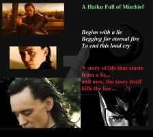 A Haiku Full Of Lies.. A Tribute For Loki.. by MiChanKoshka
