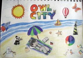 Owl City Beach by omnislash083