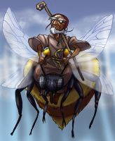 DnD: Antim and his giant Bee by Bilious
