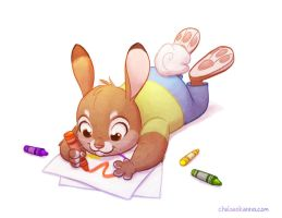 Crayon Bunny by autogatos
