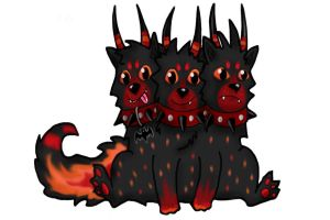 Cerberus Puppy Adoptable - Draw To Adopt! - Open by ISZK-tv