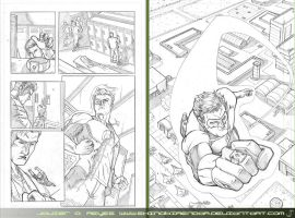 Mo' Green Lantern Test Pages by JavierReyes