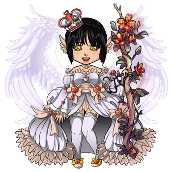 Peach Angel Outfit by ItsAndromeda