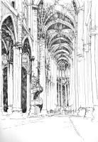 Gothic cathedral interior by TheGreatMC