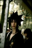 Sasuke - Darkness in the crowd by Tha-Fire-Dude