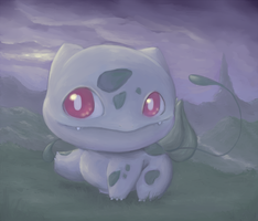 #001 Bulbasaur by LittleGlacie