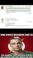 Sheldon's response to this Yahoo question by RobRulz1231Studios
