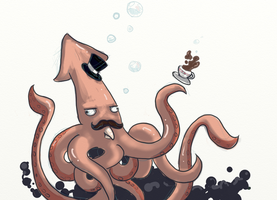 Top Hat Squid by GTPanda