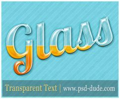 Glass Text Effect by PsdDude