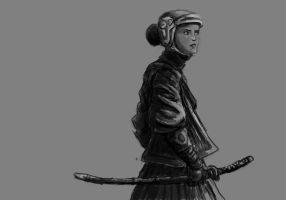 Swordswoman by TheLivingShadow