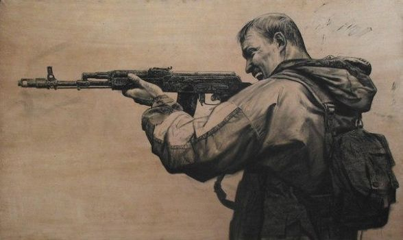 My drawing Soldier with Ak-74 by Makarov771