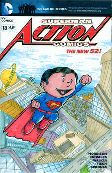 Superman-Sketch Cover Variant by DomNX