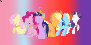 Mane 6 Minimal! :D by PartyWithTheDemons