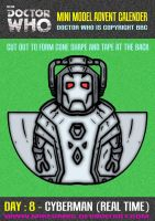 Advent Calender - Day Eight : Cyberman (Real Time) by mikedaws