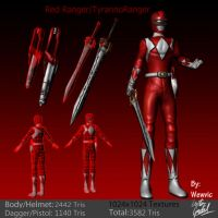 Red Ranger/TyrannoRanger 3D Model by Wewvic