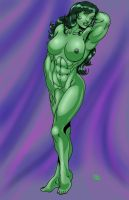 She Hulk Nude by RodneyCJacobsen