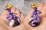 Purple and Gold Dragon by KingMelissa
