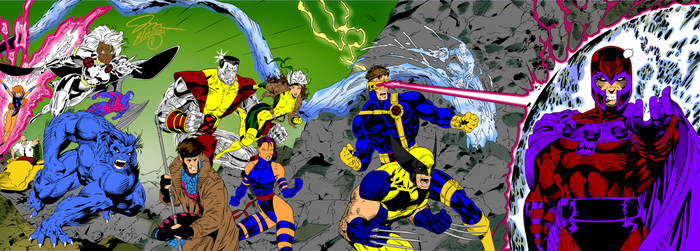 X Men  1 Jim Lee Cover Inks By Swave18.. by X-Bra