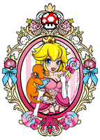 Princess Peach Pokemon Tattoo 2 by Miss-Cherry-Martini