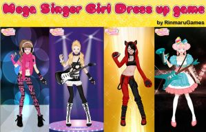 Mega singer girl dress up game by Rinmaru