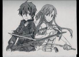 Kirito and Asuna II by LileoDark