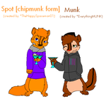 COLLAB: Spot and Munk, Chipmunk form by TheHappySpaceman01
