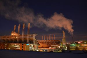 Progressive Field in the winter time by TomKilbane