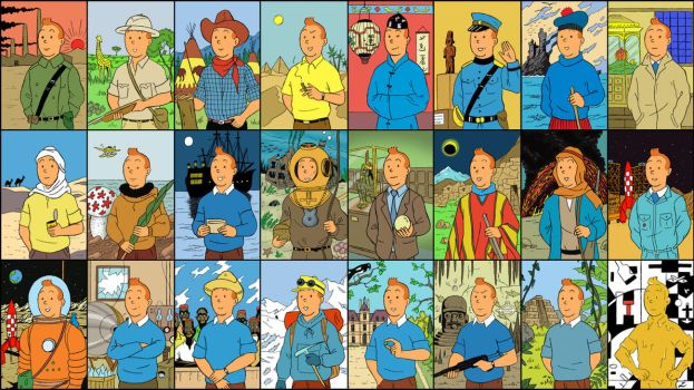 tintin cards by IndioBlack619