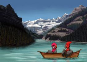 Lake Louise by Greykitty
