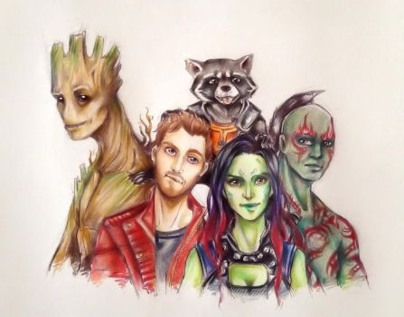 Guardians Of The Galaxy by The30thOfFebruary