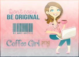 Coffee Girl PNG by ~Marianevic by Marianevic