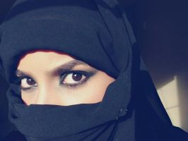 Black hijab stock 2 by Desert-Winds
