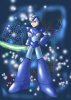 Rockman X - The Blue Angel by yinlunghuang