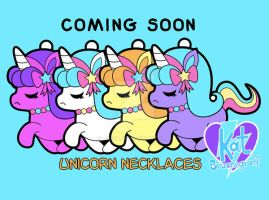 Coming Soon-Unicorn Necklaces by fuish