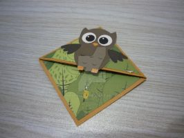 Owl Corner Bookmark by TheresiaSN