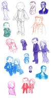 Ninth Doctor Sketch Dump by HailleyPete