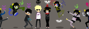 Homestuck ocs all together 2  by Angel434