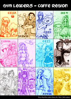 eeCAFE Pokemon Gym Leaders by e1n