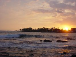Sunset in Kona by Rarharg