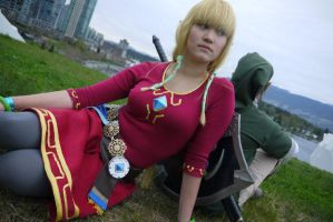 Skyward Sword Link and Zelda by Injectable