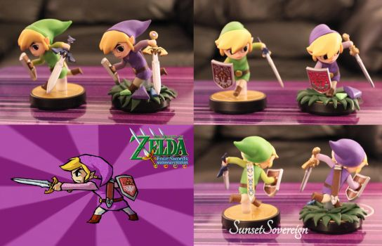 Toon Link Amiibo- Four Swords Repaint Comparison by SunsetSovereign