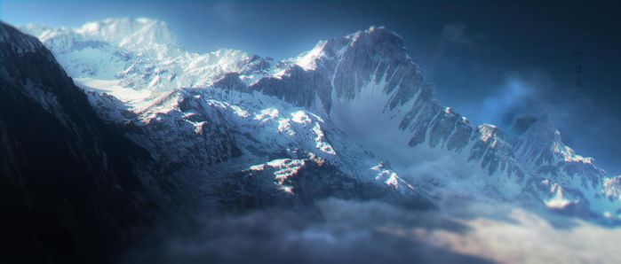 Mountains post process by Ghostwalker2061