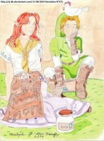ArtemisMoon Malon And Link by CJ-DB