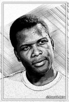 Sidney Poitier by kenernest63a