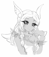 :Commission for Sephira: Aryll - Sketch ~ by Chierue
