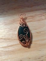 copper wire wrapped bloodstone cab by Wolf-Lady-bsparks85