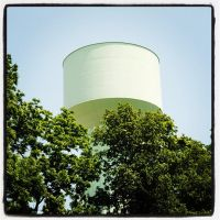 Water Tower Series: Mean Green in the Trees by agentpalmer