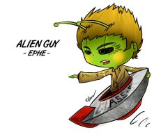 Chibi Alien Guy by EdlouieArts